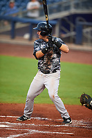 Tampa Yankees first baseman Tim Lynch (25) at bat during the second game of a doubleheader against the Charlotte Stone Crabs on July 18, 2017 at Charlotte Sports Park in Port Charlotte, Florida.  Charlotte defeated Tampa 2-1.  (Mike Janes/Four Seam Images)
