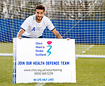 11.04.2019 Rangers player Connor Goldson teams up with Chest Heart and Stroke Scotland for the Health Defence project