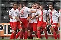 James Dunne of Stevenage celebrates with team-mates<br />  - Notts County v Stevenage - Sky Bet League One - Meadow Lane, Nottingham - 24th August 2013<br /> © Kevin Coleman 2013