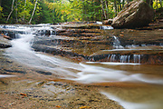Bartlett Experimental Forest - Albany Brook in Bartlett, New Hampshire during the autumn months.  The Bartlett Experimental Forest is a field laboratory for research on the ecology and ecosystem.