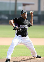 Franklin Morales / Colorado Rockies 2008 Instructional League..Photo by:  Bill Mitchell/Four Seam Images