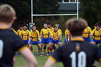 Action from the 1st XV traditional college rugby match between Wellington College and Rongotai College at Wellington College in Wellington, New Zealand on Wednesday, 30 June 2021. Photo: Dave Lintott / lintottphoto.co.nz