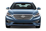 Car photography straight front view of a 2017 Hyundai Sonata Eco 4 Door Sedan Front View