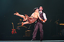 "London, UK. 29.02.2016. German Cornejo's ""Immortal Tango"" opens at the Peacock Theatre. The dancers are: German Cornejo, Gisela Galeassi, Jose Fernandez, Martina Waldman, Max Van De Voorde, Solange Acosta, Mariano Balois, Sabrina Amuchastegui, Leonard Luizaga, Mauro Caiazza, Tere Sanchez Terraf, Julio Seffino, Carla Dominguez. Picture shows: Gisela Galeassi, German Cornejo. Photograph © Jane Hobson."