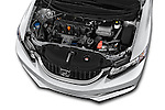 Car stock 2015 Honda Civic CNG 4 Door Sedan engine high angle detail view