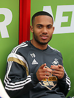 Pictured: Kenji Gorre of Swansea<br /> Re: Premier League match between Crystal Palace and Swansea City at Selhurst Park on Sunday 24 May 2015 in London, England, UK