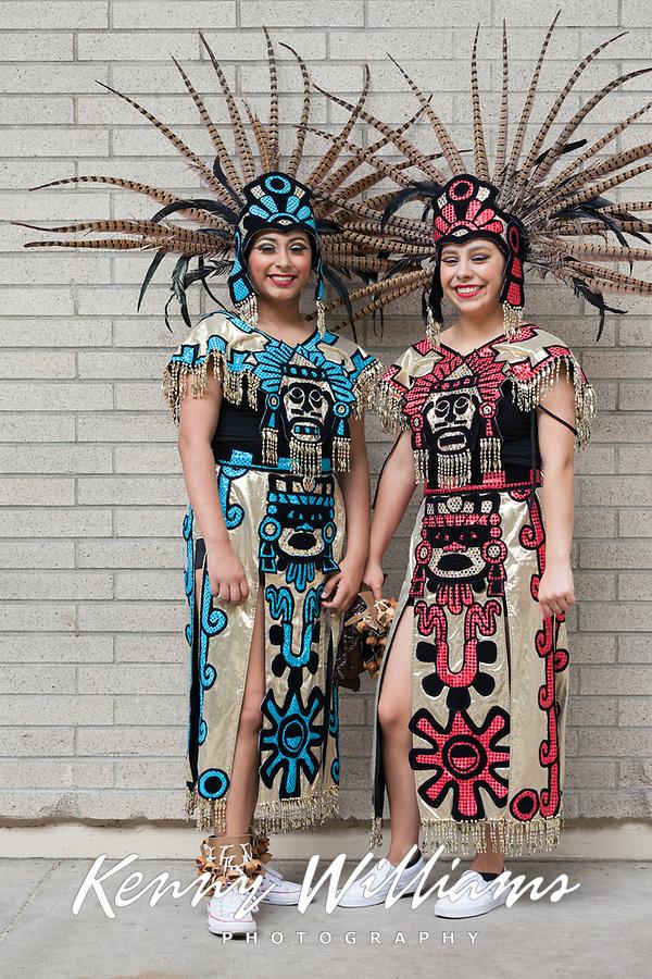 Aztec Native American Women, NW Folklife Festival, Seattle, WA, USA.