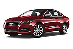 Stock pictures of low aggressive front three quarter view of 2020 Chevrolet Impala Premier 4 Door Sedan Low Aggressive