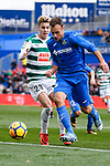 Nicolas Ezequiel Gorosito of Getafe (R) in action against Ivan Alejo of SD Eibar (L) during the La Liga 2017-18 match between Getafe CF and SD Eibar at Coliseum Alfonso Perez Stadium on 09 December 2017 in Getafe, Spain. Photo by Diego Souto / Power Sport Images