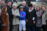 January 18, 2016: Jockey Jon Court along with trainer William J. Fires and owners Dwight Pruett (Xpress Thoroughbreds LLC) in the winners circle after winning the Smarty Jones Stakes at Oaklawn Park in Hot Springs, AR. Justin Manning/ESW/CSM