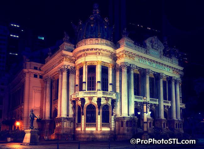 Municipal Theater of Rio de Janeiro Theatro Municipal do Rio de Janeiro in Rio de Janeiro, Brazil