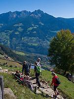 Hochmuth am Meraner Höhenweg, Algund bei Meran, Region Südtirol-Bozen, Italien, Europa<br /> Hochmuth at Hiking trail Merano High Route,  Lagundo near Merano, Region South Tyrol-Bolzano, Italy, Europe