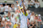 Kevin Anderson (RSA) wins at Australian Open in Melbourne Australia on 18th January 2013