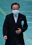 Japan's Former Prime Minister Yoshihiko Noda wearing face masks attends the memorial service for the war dead of World War II marking the 75th anniversary in Tokyo, Japan on August 15, 2020. (Photo by AFLO)
