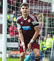 Hearts' Calum Paterson celebrates after he scores their fifth goal.