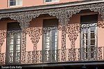 Mills House Hotel, detail of iron work, French Quarter,  Charleston, SC, USA