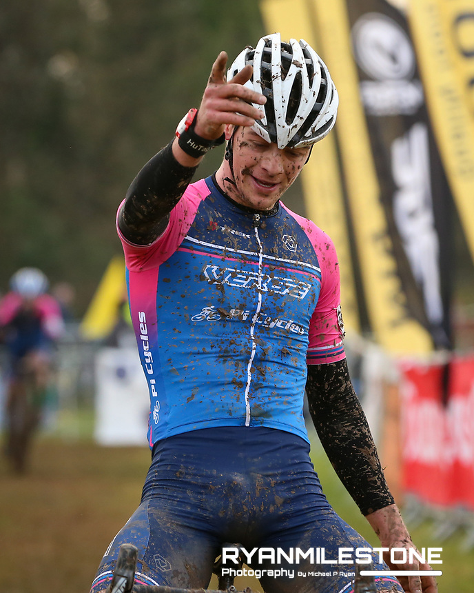 EVENT:<br /> Round 5 of the 2019 Munster CX League<br /> Drombane Cross<br /> Sunday 1st December 2019,<br /> Drombane, Co Tipperary<br /> <br /> CAPTION:<br /> Dillon Corkery of Verge Sport PI Cycles wins the A Race - Senior<br /> <br /> Photo By: Michael P Ryan
