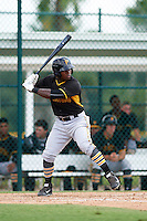 Pittsburgh Pirates Tito Polo (49) during an instructional league intrasquad black and gold game on September 23, 2015 at Pirate City in Bradenton, Florida.  (Mike Janes/Four Seam Images)