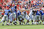 Southern Methodist Mustangs defensive end Mason Gentry (93) in action during the game between the TCU Horned Frogs and the SMU Mustangs at the Gerald J. Ford Stadium in Fort Worth, Texas.  TCU leads SMU 28 to 0 at half.