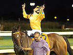 June 28, 2015 Departing (Miguel Mena) wins the 25th running of the G2 Firecracker at Churchill Downs.  Owner Claiborne Farm (Seth W. Hancock) and Adele Dilschneider, trainer Albert M. Stall, Jr. ©Mary M. Meek/ESW/CSM