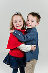 WATERBURY, CT- 10 December 2015-121015EC13-  Christmas Kids Metro. 4-year-old twins Tim and Maggie Goletz are from Prospect. Tim wants a toy backhoe and Maggie wants a Talking Hazel doll. Erin Covey Republican-American