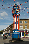 Sheerness, town center clock.  Isle of Sheppey Kent UK.