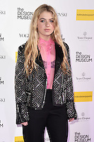 Anais Gallagher<br /> at The Design Museum opening party with Vogue, Kensington, London.<br /> <br /> <br /> ©Ash Knotek  D3203  22/11/2016