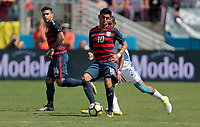 Nashville, TN - Saturday July 08, 2017: Joe Corona during a 2017 Gold Cup match between the men's national teams of the United States (USA) and Panama (PAN) at Nissan Stadium.
