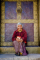 Samteden, 82 year old nun-at Kamsun Yuly Namgyal Monastery.