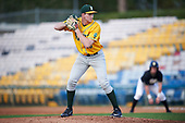 Siena Saints relief pitcher Dylan D'Anna (30) gets ready to deliver a pitch during a game against the Pittsburgh Panthers on February 24, 2017 at Historic Dodgertown in Vero Beach, Florida.  Pittsburgh defeated Siena 8-2.  (Mike Janes/Four Seam Images)