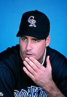 Darryl Kile of the Colorado Rockies participates in a Major League Baseball game at Dodger Stadium during the 1998 season in Los Angeles, California. (Larry Goren/Four Seam Images)