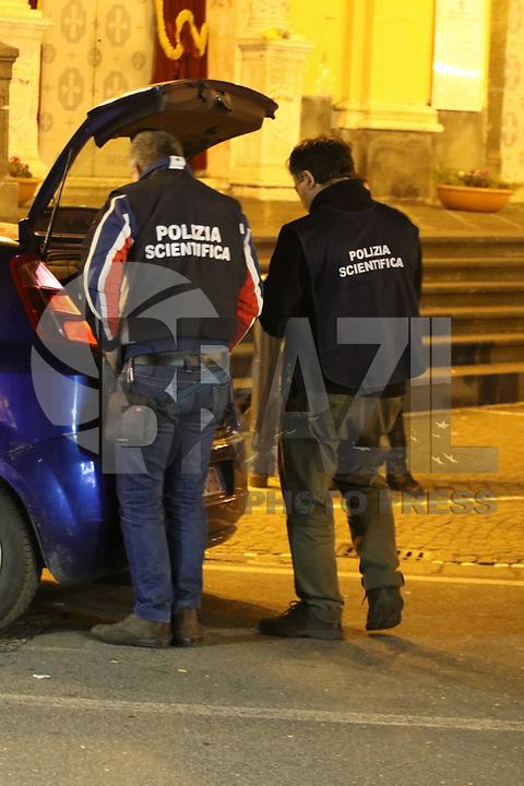 NAPOLI, ITALIA, 11.02.2018 - CRIME-ITALIA - Um homem foi morto quando tentou roubar uma Joalheria em Frattamaggiore na província de Nápoles pelo proprio dono da loja na Italia, (Foto: Salvatori Sposito/Brazil Photo Press)