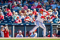 2 March 2019: Washington Nationals outfielder Juan Soto in action during a Spring Training game against the Minnesota Twins at the Ballpark of the Palm Beaches in West Palm Beach, Florida. The Nationals defeated the Twins 10-6 in Grapefruit League play. Mandatory Credit: Ed Wolfstein Photo *** RAW (NEF) Image File Available ***