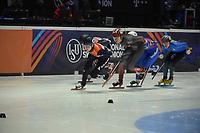 SPEEDSKATING: DORDRECHT: 05-03-2021, ISU World Short Track Speedskating Championships, Heats 1000m Ladies, Courtney Sarault (CAN), Xandra Velzeboer (NED), ©photo Martin de Jong