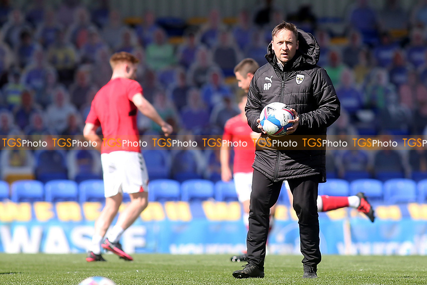 AFC Wimbledon Coach, Andy Parslow, who has recently moved up from the Academy to work with the first team during AFC Wimbledon vs Fleetwood Town, Sky Bet EFL League 1 Football at Plough Lane on 5th April 2021