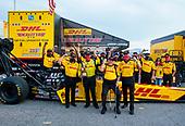 Shawn Langdon, top fuel, DHL, victory, celebration, trophy, Connie Kalitta