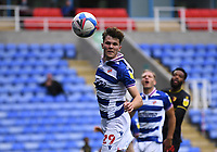 3rd October 2020; Madejski Stadium, Reading, Berkshire, England; English Football League Championship Football, Reading versus Watford; Tom Holmes of Reading heads the ball out for a corner