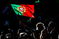A Portugal fan waves a flag before the UEFA Nations League Final match between Portugal and Netherlands at Estadio do Dragao on June 9th 2019 in Porto, Portugal. (Photo by Daniel Chesterton/phcimages.com)<br /> Finale <br /> Portogallo Olanda<br /> Photo PHC/Insidefoto <br /> ITALY ONLY