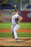 Jacksonville Suns pitcher Sean Donatello (30) delivers a pitch during a game game against the Chattanooga Lookouts on April 30, 2015 at AT&T Field in Chattanooga, Tennessee.  Jacksonville defeated Chattanooga 6-4.  (Mike Janes/Four Seam Images)