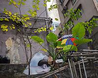 Hongkong, China, Asien, urbane Flora<br />  ***Keine Social_Media Nutzung***<br /> <br /> Engl.: Asia, China, Hong Kong, urban flora, plant, facades, houses, poster<br /> ***No social media use***