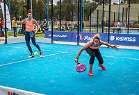 Netherlands, September 6,  2020, Amsterdam, Padel Dam, NK Padel, National Padel Championships, Womans doubles:  Chayenne Ewijk (NED) and Rosalie van der Hoek (NED) (L)<br /> Photo: Henk Koster/tennisimages.com