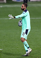 Football: Uefa Nations League Group A match Italy vs Netherlands at Gewiss stadium in Bergamo, on October 14, 2020.<br /> Italy's goalkeeper Gianluigi Donnarumma in action during the Uefa Nations League match between Italy and Netherlands at Gewiss stadium in Bergamo, on October 14, 2020. <br /> UPDATE IMAGES PRESS/Isabella Bonotto