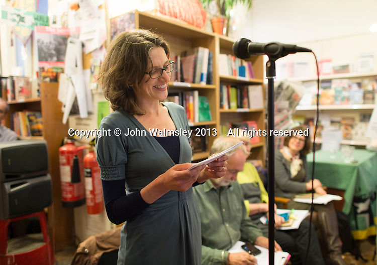 Emily Charkin, Institute of Education, speaking at the event to discuss Leila Berg's contribution to radical education and children's lives, Houseman's bookshop, London, 22nd May 2013.