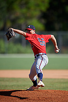 Alex Edmondson during the WWBA World Championship at the Roger Dean Complex on October 21, 2018 in Jupiter, Florida.  Alex Edmondson is a right handed pitcher from Simpsonville, South Carolina who attends Mauldin High School and is committed to Clemson.  (Mike Janes/Four Seam Images)