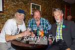 Old friends Michael Barron, Paudie Reen and Pat Randles  meeting up for their first pint in 500 days in the Sportsman bar Killarney on Monday