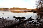 Autumn leaves on Burke Lake Virginia,