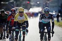(as always) at the front: Iljo Keisse (BEL/Etixx-QuickStep) followed closely by Maarten Tjallingii (NLD/LottoNL-Jumbo) <br /> <br /> Omloop Het Nieuwsblad 2015
