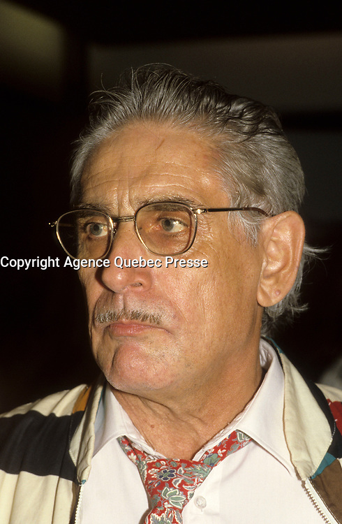 Montreal (Qc) CANADA - circa 1987- File Photo of Canadian Film maker Gilles Carle who passed aways November 28, 2009 at 80 after fighting Parkinson disease for the over 10 years<br /> <br /> <br /> PHOTO :  Agence Quebec Presse