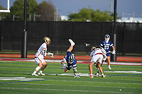 June 4, 2021:  Game action from the St. John's Prep vs Boston College High varsity lacrosse game played at Boston College High in Boston MA. Eric Canha/BridgewaterSports.com