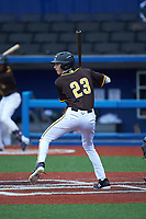 Spencer Nolan of John T Hoggard High School (NC) playing for the San Diego Padres scout team during the South Atlantic Border Battle Futures Game at Truist Point on September 25, 2020 in High Pont, NC. (Brian Westerholt/Four Seam Images)
